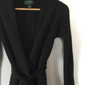 Ralph Lauren Merino Maxi Sweater Jacket